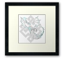 Water drenched dragon Framed Print