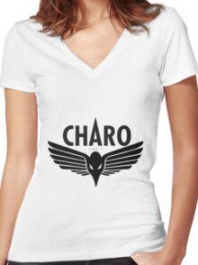 Charo - Niska Women's Fitted V-Neck T-Shirt