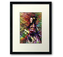 Ada Lovelace - Rainbow of Microchips Framed Print
