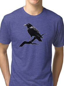 Crow (for dark backgrounds) Tri-blend T-Shirt