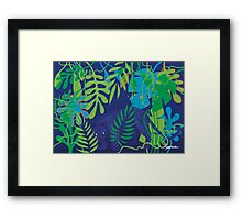 Black Leopard Framed Print