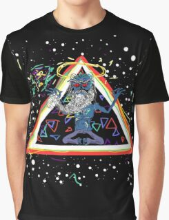 Trippy Triangle God Graphic T-Shirt