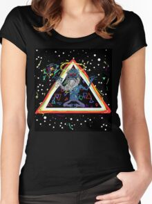 Trippy Triangle God Women's Fitted Scoop T-Shirt
