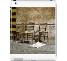 Three Chairs iPad Case/Skin