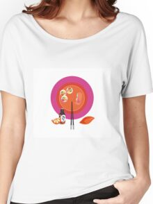 Sushi plate & chop sticks Women's Relaxed Fit T-Shirt