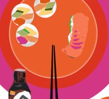 Sushi plate & chop sticks Sticker