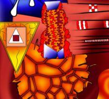 Versophomus V3 - abstract digital artwork Sticker