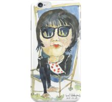 Girl in the city park iPhone Case/Skin