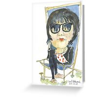 Girl in the city park Greeting Card