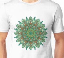 orange and green mandala style bohemian chic Unisex T-Shirt