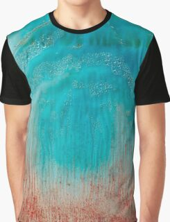 Abstract colorful texture: blue & red Graphic T-Shirt