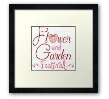Epcot Flower and Garden Festival Framed Print