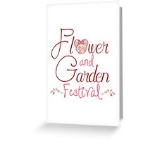 Epcot Flower and Garden Festival Greeting Card