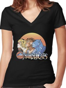 thundercats design t-shirt Women's Fitted V-Neck T-Shirt