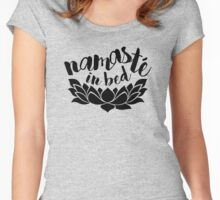 Namaste In Bed Women's Fitted Scoop T-Shirt