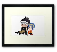 Gajeel and Levy Couple Chibi Framed Print