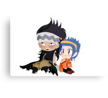 Gajeel and Levy Couple Chibi Canvas Print