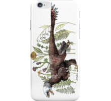 Velociraptor and plant life iPhone Case/Skin