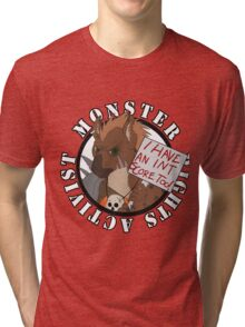 Monster Rights Activist Gnoll Tri-blend T-Shirt