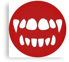 vampire mouth Canvas Print
