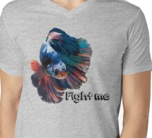 Betta Fighting Fish Mens V-Neck T-Shirt