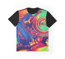 Colorful Motorcycle Engine Graphic T-Shirt