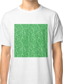 Seamless floral pattern with leaves motive Classic T-Shirt