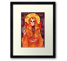 Holy Lady of the Butterflies Framed Print