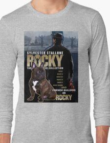 French Bulldog Art - Rocky Movie Poster Long Sleeve T-Shirt
