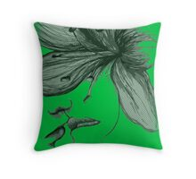 Infinite Kiss - Warhol Collection, Piece 5 (Green) Throw Pillow