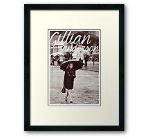 Gillian Anderson - Viva Italia Framed Print