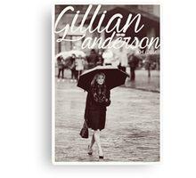 Gillian Anderson - Viva Italia Canvas Print