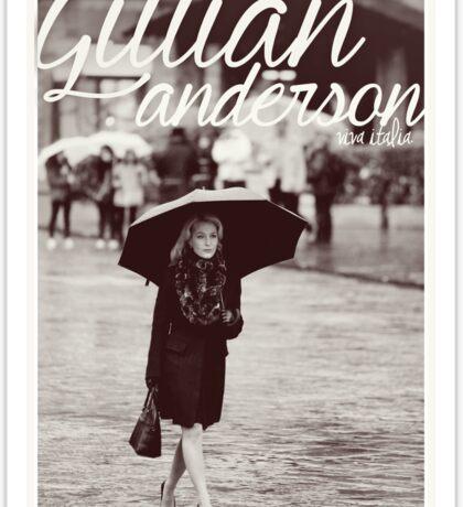 Gillian Anderson - Viva Italia Sticker