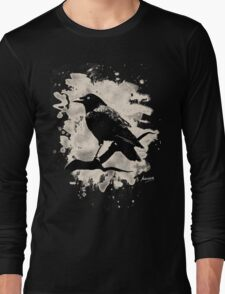 Crow bleached (creme white) Long Sleeve T-Shirt