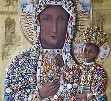 Our Lady of Czestochowa Bejeweled Picture - Restored by blessedartthou