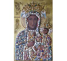 Our Lady of Czestochowa Bejeweled Picture - Restored Photographic Print