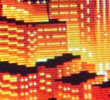 8-bit pixel cityscape Sticker