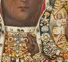 Our Lady of Czestochowa Bejeweled Picture - Closeup Sticker