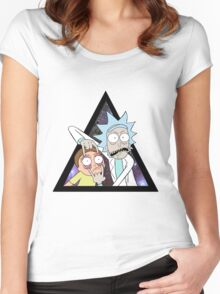 Rick and morty. Women's Fitted Scoop T-Shirt