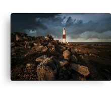 Red And White Lighthouse Of Lizard Canvas Print