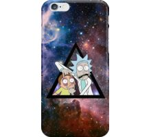 rick and morty in space. iPhone Case/Skin