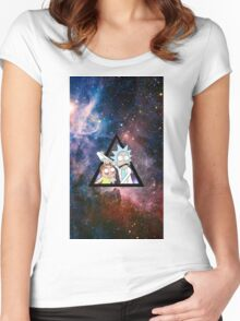 rick and morty in space. Women's Fitted Scoop T-Shirt
