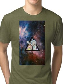 rick and morty in space. Tri-blend T-Shirt