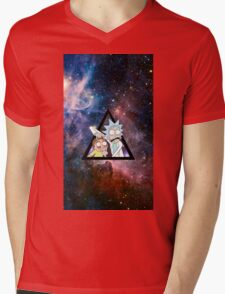 rick and morty in space. Mens V-Neck T-Shirt
