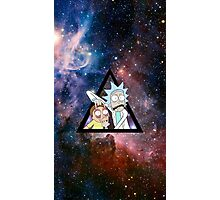 rick and morty in space. Photographic Print
