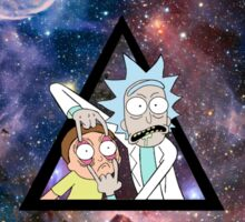 rick and morty in space. Sticker