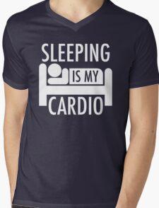 Sleeping Is My Cardio Mens V-Neck T-Shirt