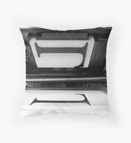 Letterpress Throw Pillow