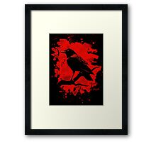 Crow bleached red Framed Print