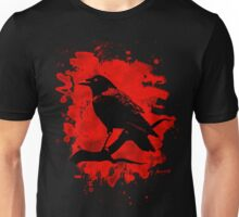 Crow bleached red Unisex T-Shirt